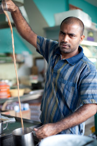 Environmental Portrait of Tea-maker from Little India Outing