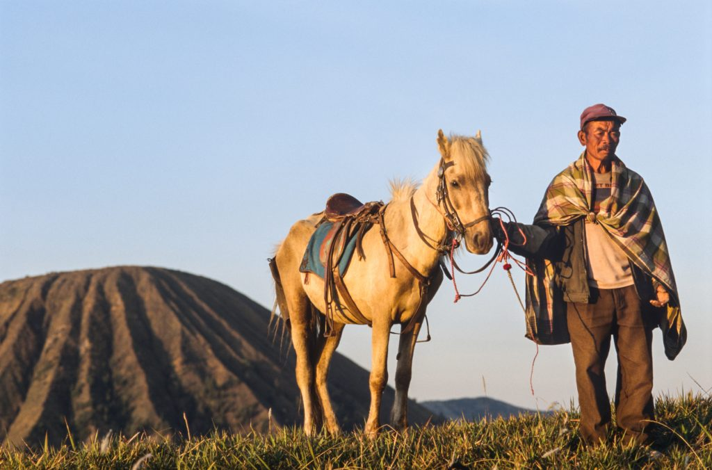 Mr. Satumat, the horseman from Comoro Lawang who I met during the travel photography workshop