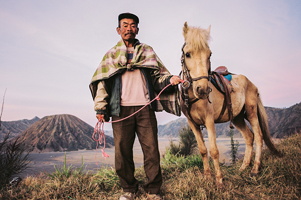 Mr. Satumat and his horse