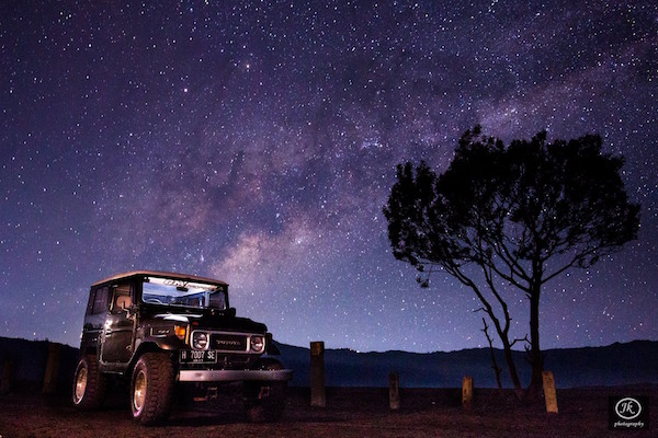 The Milky Way shot during our Travel Photography Workshop at Mount Bromo, Shot by Jothykumar