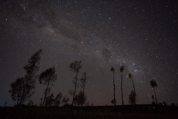 The Milky Way as seen straight out of the camera (no post processing)